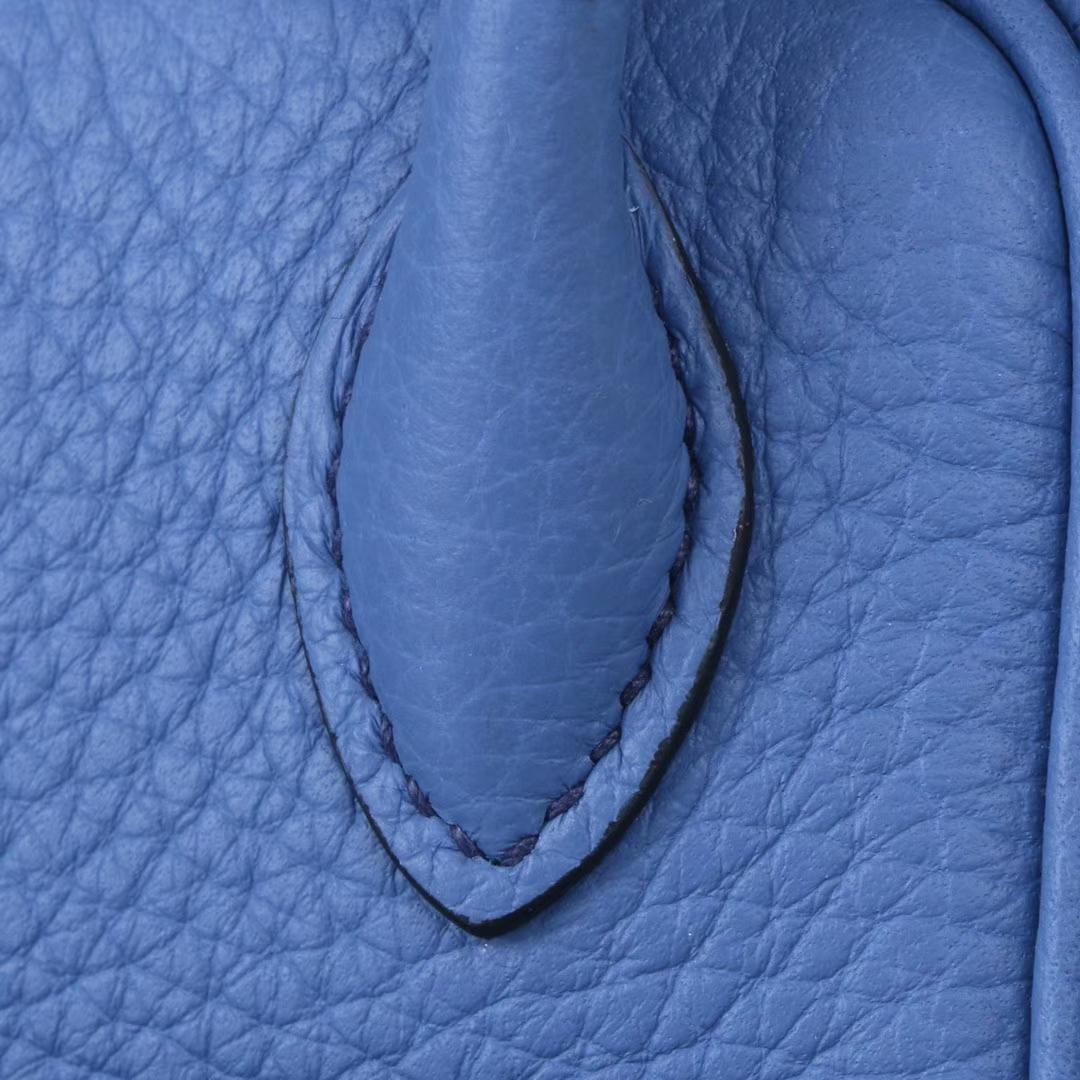 Hermès(爱马仕)mini lindy20  银扣 布莱顿蓝 Togo