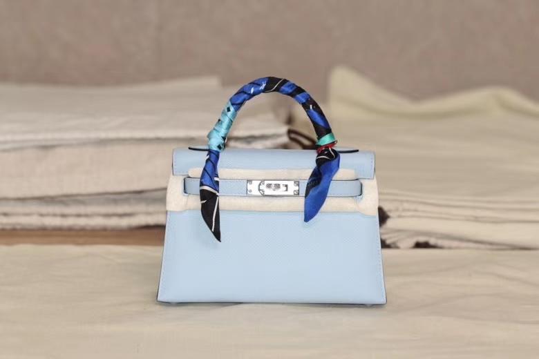 Hermès(爱马仕)miniKelly 迷你凯莉 圣杯蓝 二代 出货