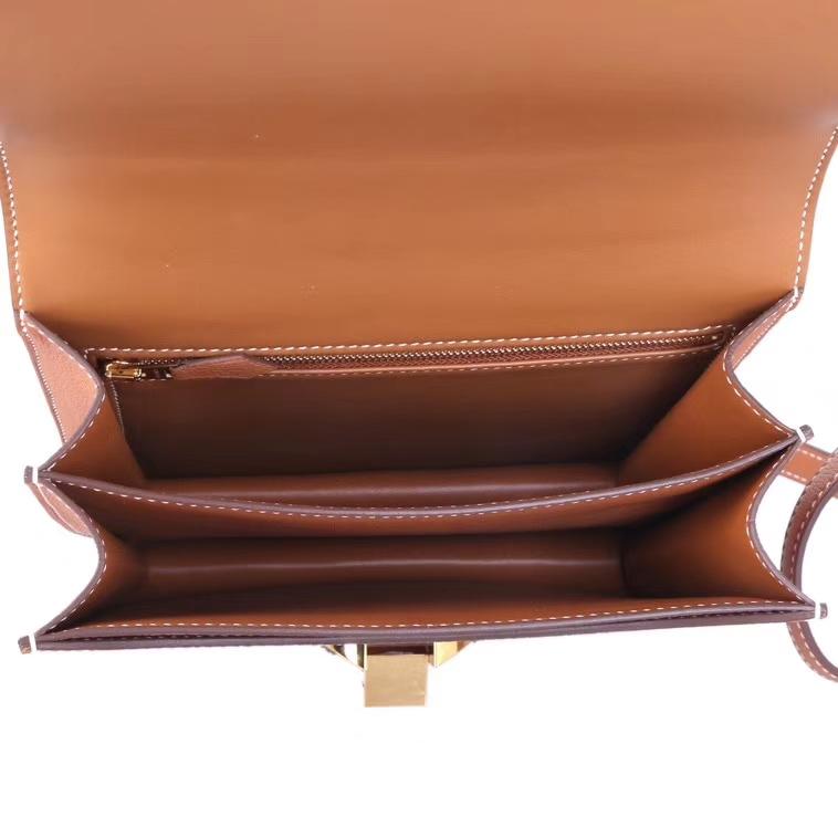 Hermès(爱马仕)Hermes 2002 金棕 evercolor 金扣 20cm