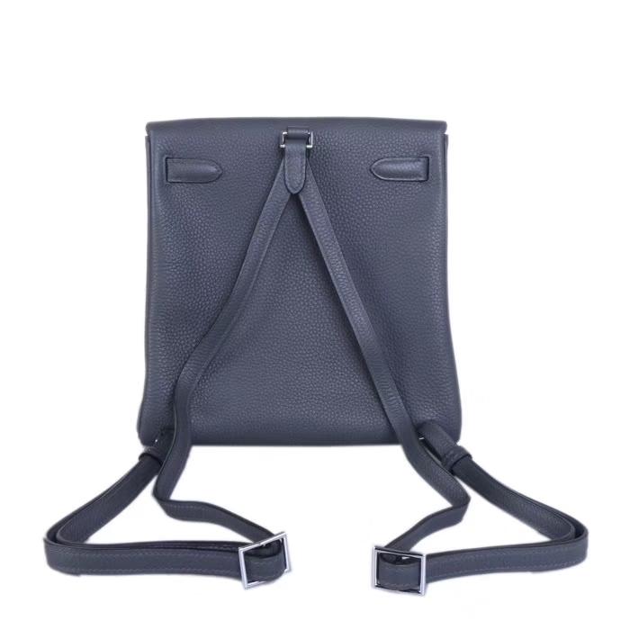 Hermès(爱马仕)kelly ado 双肩包 银扣 8F锡器灰 togo