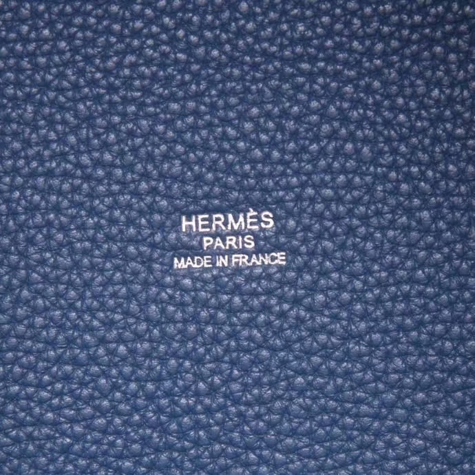 Hermès(爱马仕)Picotin 菜篮包 R2玛瑙蓝 togo 银扣 26cm