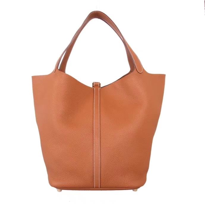 Hermès(爱马仕)Picotin 菜篮包 金棕色 togo 金扣 26cm
