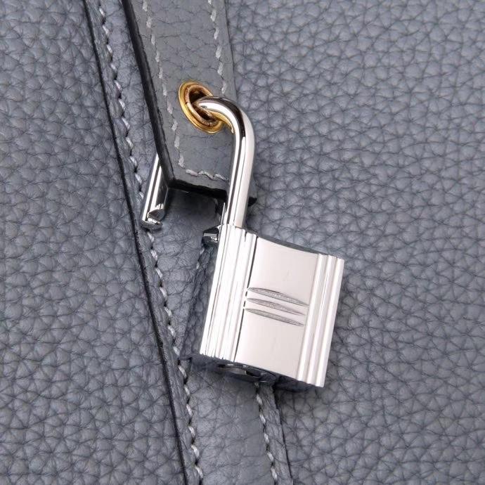 Hermès(爱马仕)Picotin 菜篮包 亚麻蓝 togo 金扣 26cm