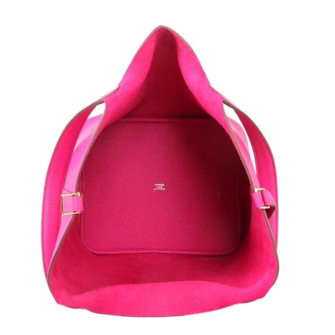 Hermès(爱马仕)Picotin 菜篮包 玫瑰紫 togo 银扣 26cm