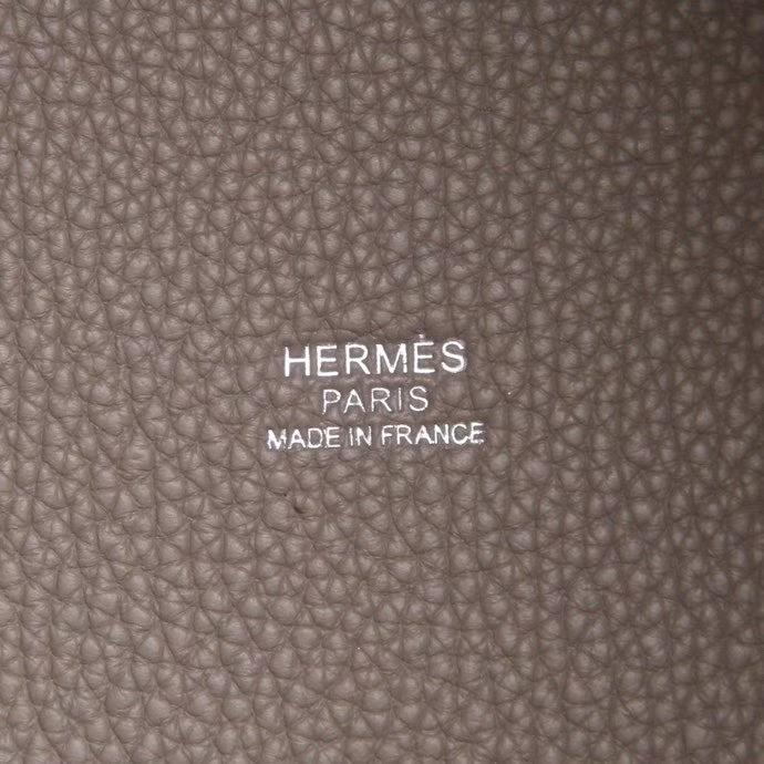 Hermès(爱马仕)Picotin菜篮 沥青灰  togo 银扣 26cm