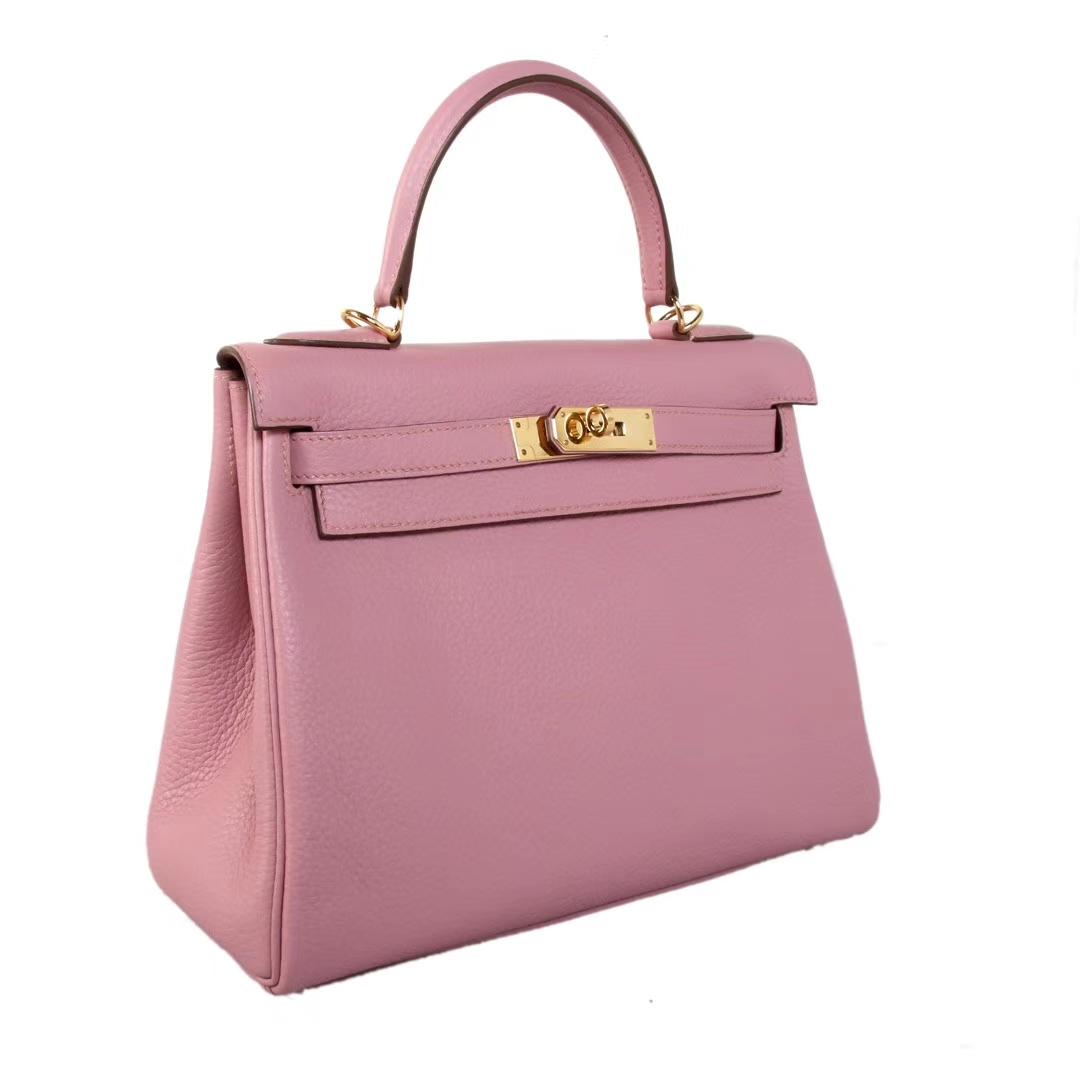 Hermès(爱马仕)Kelly凯莉包 藤紫色 togo 金扣 28cm