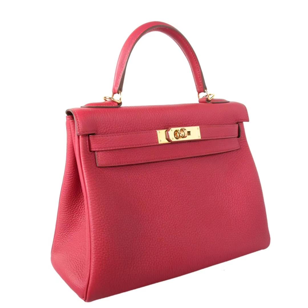 Hermès(爱马仕)Kelly凯莉包 宝石红 togo 金扣 28cm