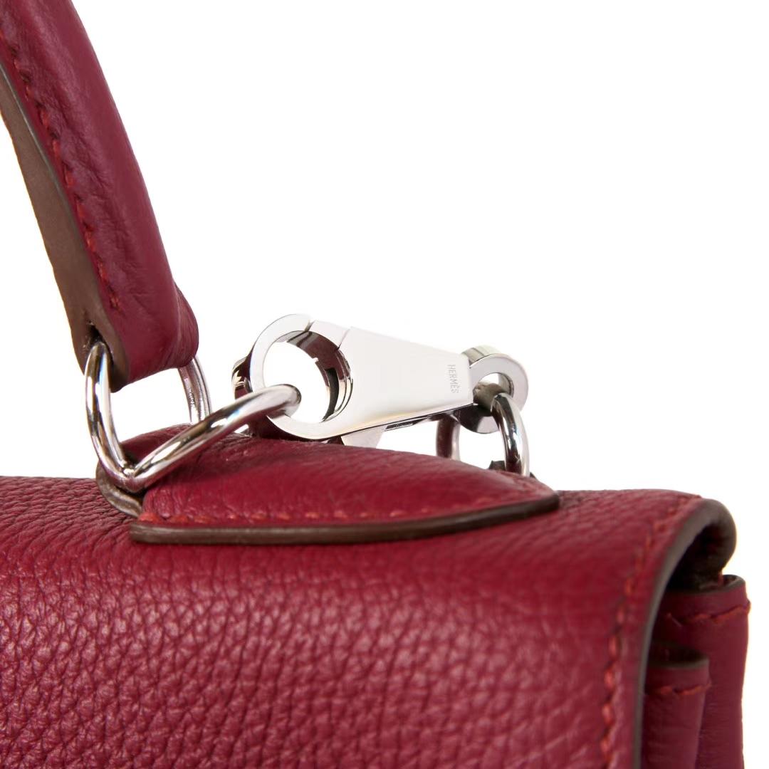 Hermès(爱马仕)Kelly 凯莉包 托斯卡紫 togo 银扣 28cm
